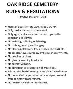 Oak Ridge Cemetery Rules & Regulations JPEG Document