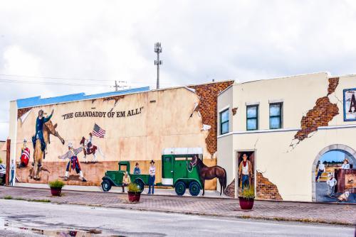 """The Grandaddy of em all"" wall mural."
