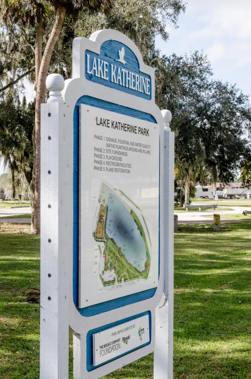 Lake Katherine Park sign